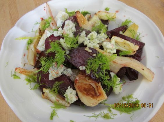 Roasted Beets and Fennel w/Balsamic Vinaigrette