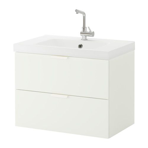 GODMORGON / ODENSVIK Sink cabinet with 2 drawers, white white 31 1/2x19 1/4x25 1/4
