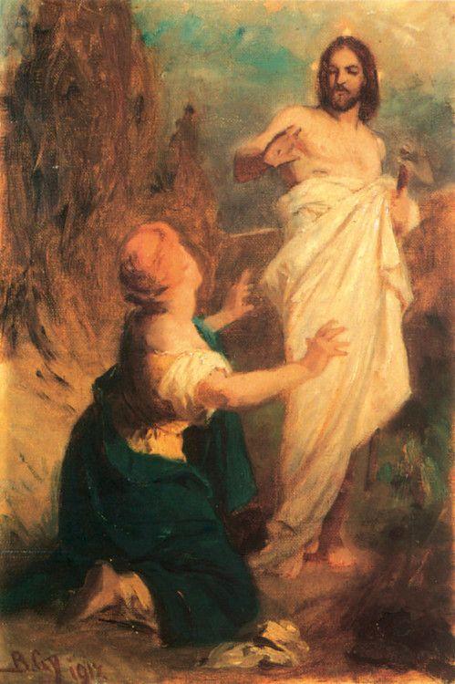 Hungarian Painters Benczur Gyula Noli Me Tangere Vazlat Noli Me Tangere Art Christian Art