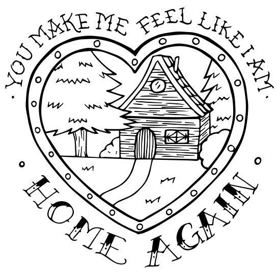 You Make Me Feel Like I Am Home Again Millions Of Unique Designs By Independent Artists Find Your Thing Art Simple Art Feelings