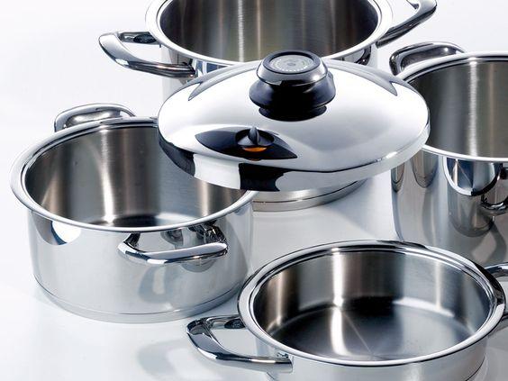 Surtido de cocina ollas sartenes para una cocina sana y saludable amc pinterest - Amc baterias de cocina ...
