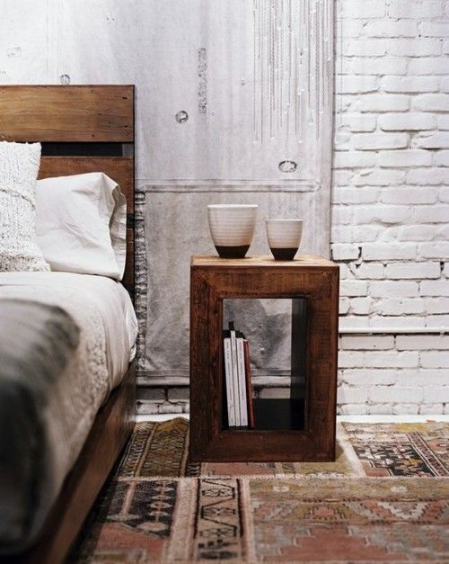 Wall treatments of brick and wood can be created from veneers or murals.