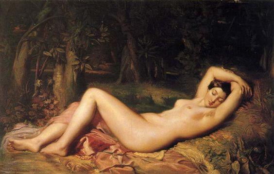 1850 Baigneuse endormie - Theodore Chasseriau. Neoclasicismo, Romanticismo