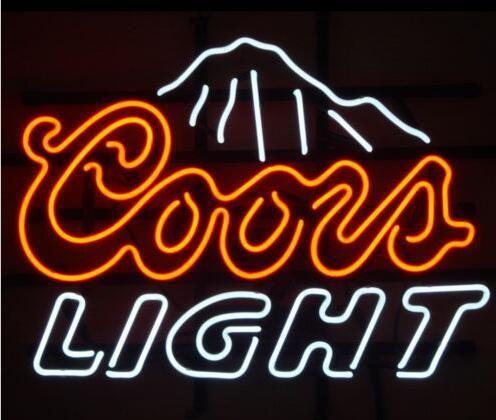 Custom Coors Light Mountains Glass Neon Light Sign Beer Bar In 2020 Neon Beer Signs Neon Light Signs Neon Bar Signs