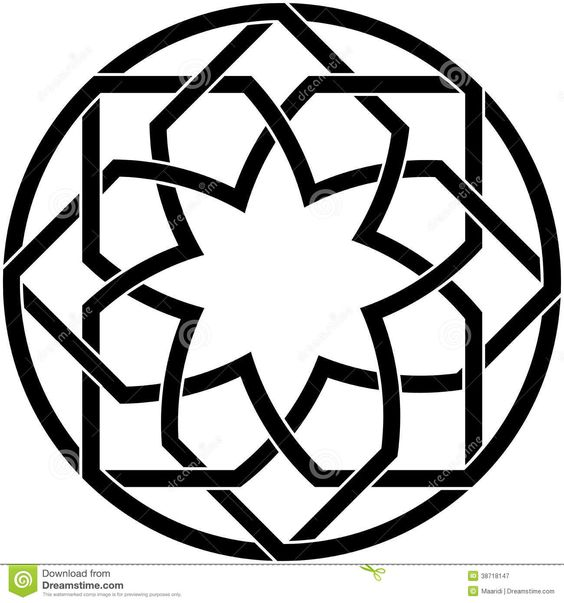 how to draw simple islamic patterns