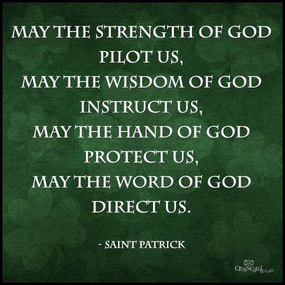 A benediction, from St Patrick