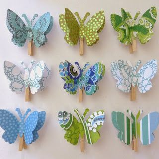 Paper Butterfly Memo Clips