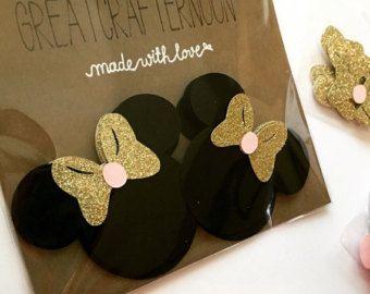 Arcos de oro y rosa de Minnie Mouse papel Cut por GreatCrafternoon