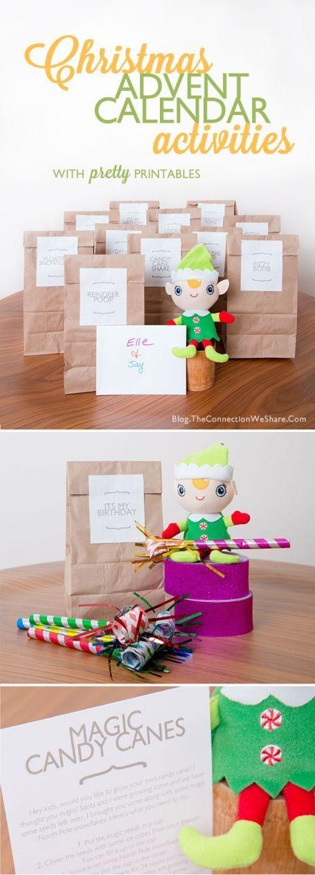 Advent calendar activities for kids advent calendar for Advent calendar craft for kids