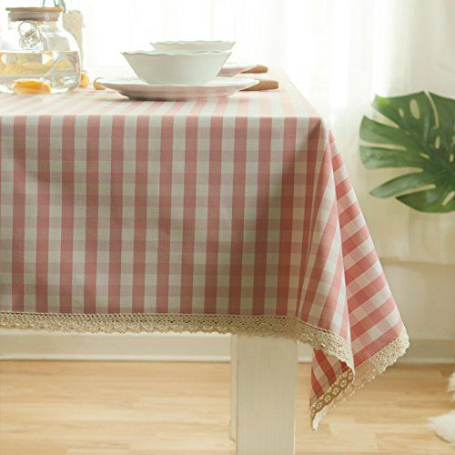 Wfljl European Style Tablecloth Cotton Decoration Kitchen Coffee Table Dining Table Cover Cloth 140x220c Dining Table In Kitchen Cool Furniture Pink Tablecloth