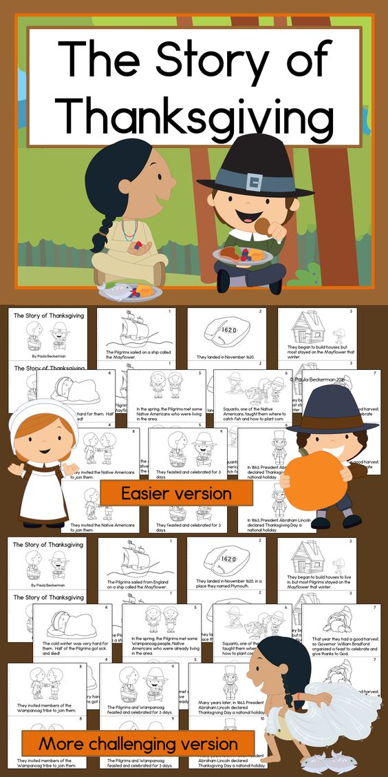 Printable Thanksgiving readers (2 versions!) for first through third grade - perfect for my November social studies unit! $