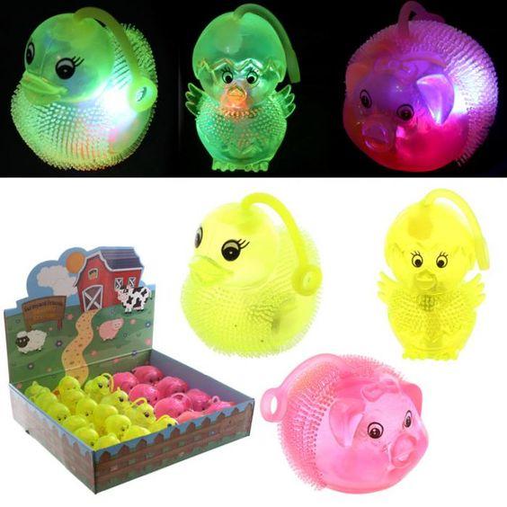 TY582 - Animali da Schiacciare con LED - Animali della Fattoria   Puckator IT #partybag #kid #idee #compleanno #bambini