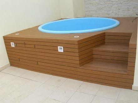 Piscina pequena terraza pinterest - Piscina prefabricada pequena ...