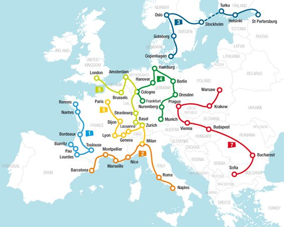Travel ideas and itineraries Rail Europe Rail travel planner – Europe Train Travel Map