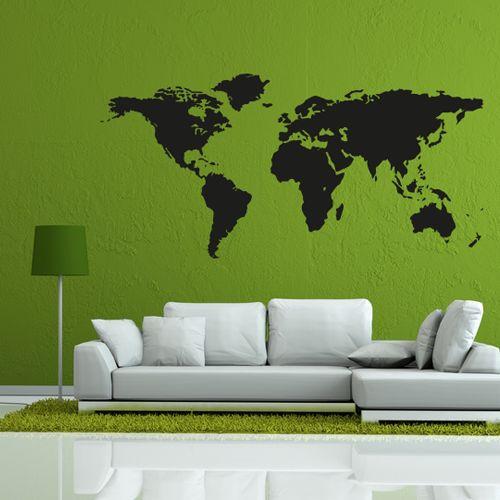 Wandtattoo  -  Weltkarte