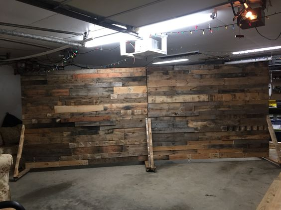 Portable pallet wall for church backdrop diy pallet for Movable pallets