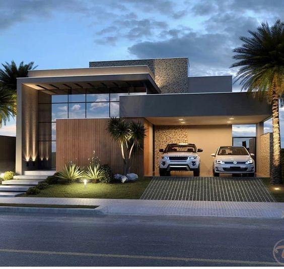 Fachadas de casas 2020 modernas simples pequena veja for Fachadas de casas rojas modernas