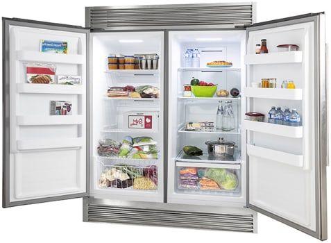 Forno Ffffd193360s Side By Side Column Refrigerator Freezer Set In Stainless Steel Refrigerator Freezer Column Refrigerator Side By Side Refrigerator
