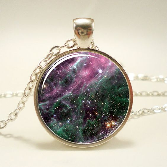 Galaxy Necklace Heavenly Nebula Pendant Stars