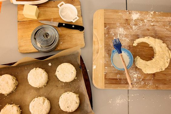 sweet corn biscuits, in real life.