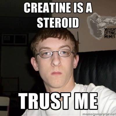 Kreatin je steroid