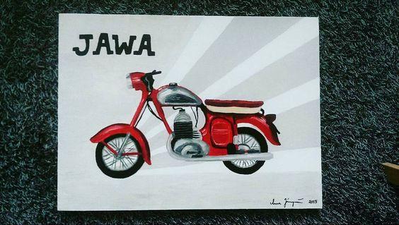 Jawa motorcycle painting by an artist  Repost @annansilmin  #jawa #jawamotorcycles.com#jawamotorcycles #jawayezdi #idealjawa#2stroke #bikersofinstagram #bikeswithoutlimits #bikestagram #bikers #bikelife #bikeride #bikeporn #bikergang #motorcycles #yezdi #retro #czech #vintage #vintagebike #india #motocross #motorsport #motorbike #czechoslovakia
