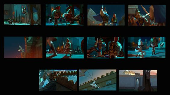 Chris Hawks Storyboards Freerunning sequence initial script - script storyboard