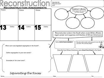 Reconstruction amendments worksheet pdf