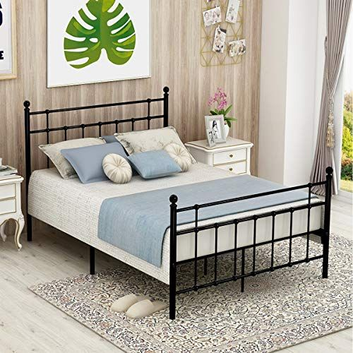Iron Bed Frame Headboard And Footboard, Heavy Duty Queen Bed Frame With Headboard