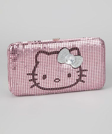 Take a look at this Pink Metal Mesh Hello Kitty Frame Wallet by Hello Kitty on #zulily today!