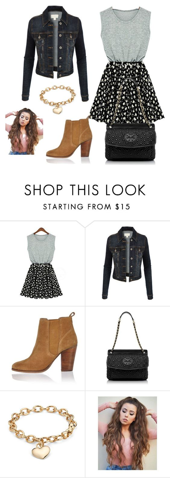 """""""Untitled #1841"""" by jenny100415 ❤ liked on Polyvore featuring LE3NO, River Island, Tory Burch and Blue Nile"""