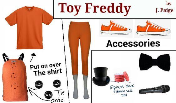 Toy Freddy FNAF Cosplay Fashion by: J. Paige (me)