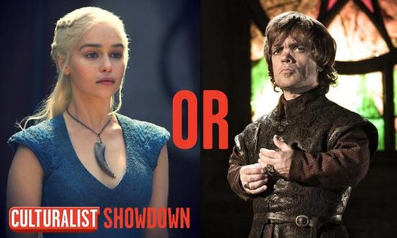 It's a Game Of Thrones showdown!  Retweet for Tyrion Lannister Favorite for Daenerys Targaryen  *You can do both*