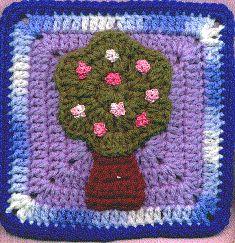 South Bay Crochet - flores de cerezo Square
