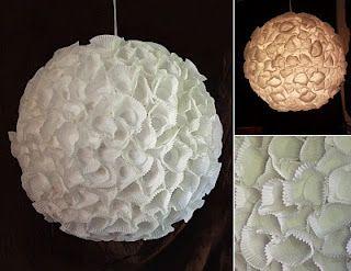 As Minhas Pequenas Artes e Travessuras: Luminária linda, fácil e reciclada.