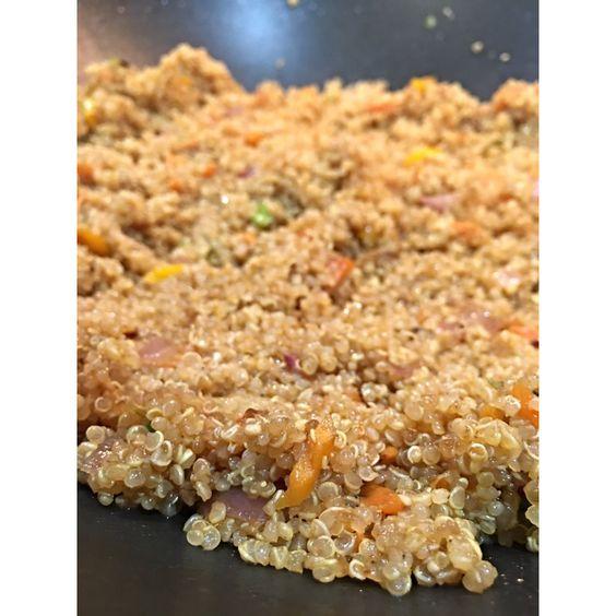 Quinoa stir fry.