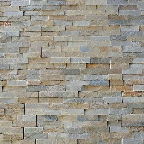 Oyster Coloured Quartzite Riven Cladding Split Face Tile Is Natural Stone And Perfect For Walls And Splashb Slate Cladding Cladding Natural Stone Tile Bathroom