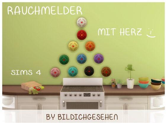 Sims 4 Der herzliche Rauchmelder akisima sims blog Clutter - rauchmelder in der küche