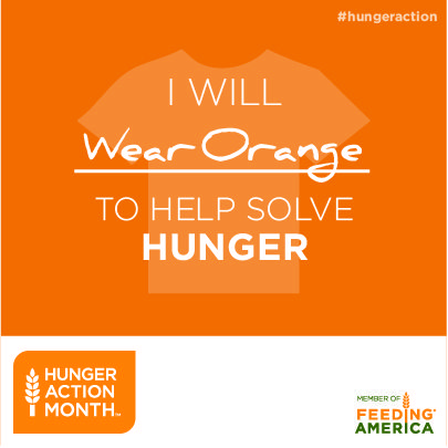 #GoOrange for #HungerAction Day today.
