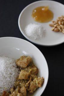 Temperinhos & Afins: Curry de Frango com Arroz de Coco... Receitinha especial da titia!