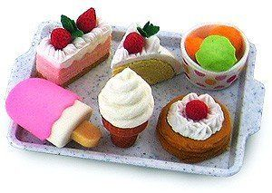 Iwako Japanese Eraser Dessert Set #kawaii