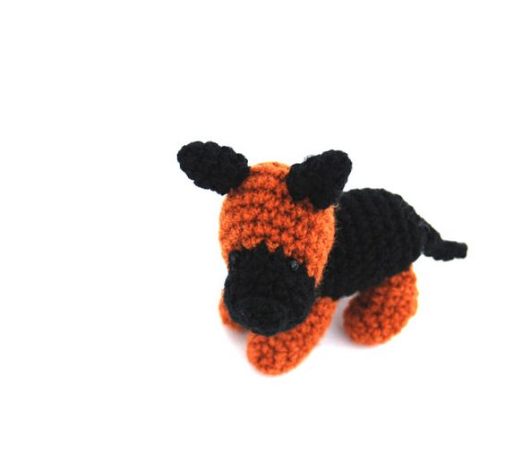$26.46  German Sheperd Dog, #miniature #puppy #dog, #crochet #pet, #collectible #animal #doll, #soft #sculptured #pet for #animal #lovers, #dog #party #supply