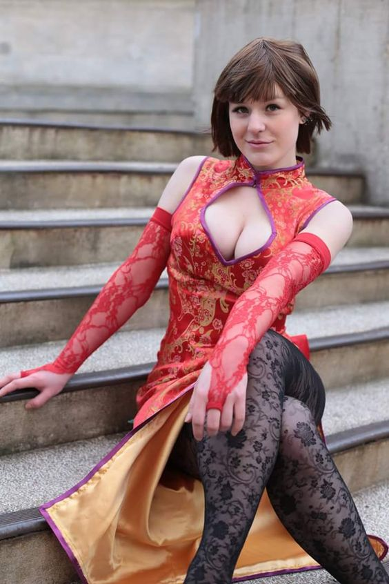 Heroes of Cosplay: Mao Taku Cosplay is a sexy Anna from Tekken. GEQ Photography.
