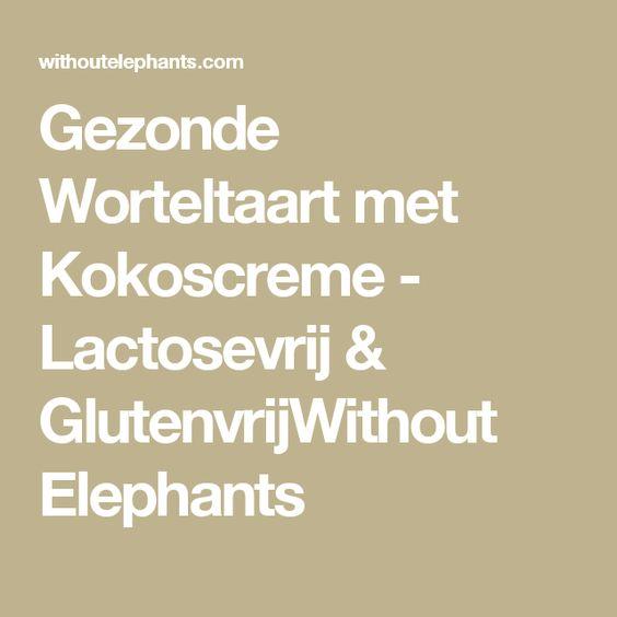 Gezonde Worteltaart met Kokoscreme - Lactosevrij & GlutenvrijWithout Elephants