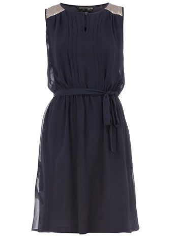Dorothy Perkins navy sequin dress. So great to layer in the fall!