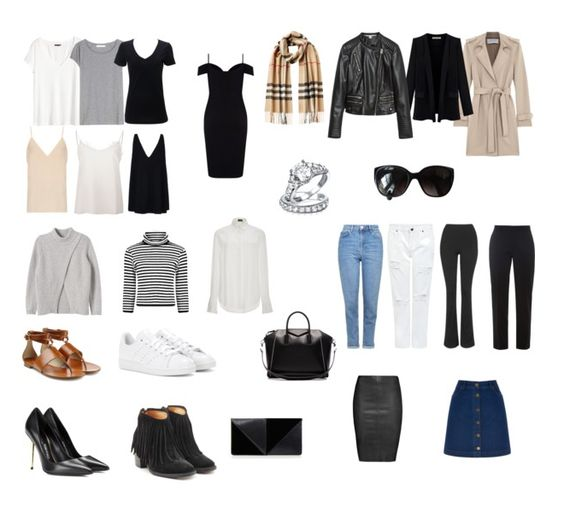 """So Basic capsule wardrobe by katilmoore featuring Topshop  As a riff on the """"5 Piece French Wardrobe"""", I present to you the """"6 Piece  USA Wardrobe.  While I use the term """"capsule"""", this…"""