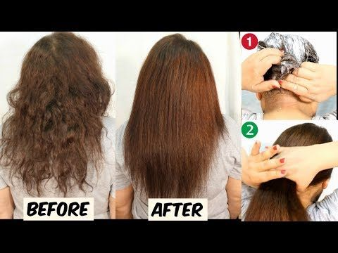 In 30 Minutes Permanent Hair Straightening At Home Without Straightener Heat 100 Works Youtube Straighten Hair Without Heat Hair Hair Tutorial