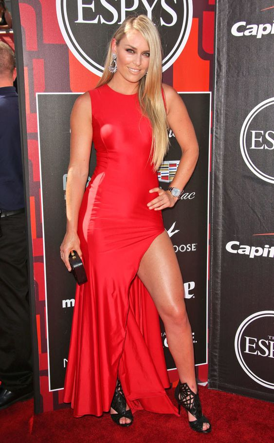 Lindsey Vonn from 2015 ESPY Awards Red Carpet Arrivals  The Sex with Brody star and his girlfriend style all-black ensembles.