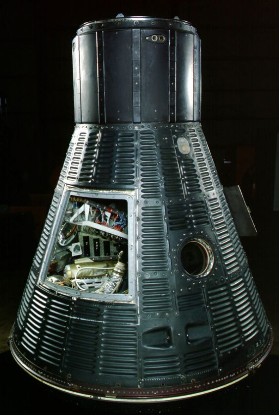 """Mercury """"Freedom 7"""" capsule in which Alan Shepard became ..."""