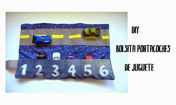 Cómo hacer una bolsita para llevar los coches de juguete | Aprender manualidades es facilisimo.com